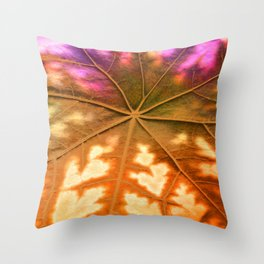 Leaf Incredible, Amber Throw Pillow