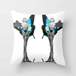 Triangle Lady  Throw Pillow