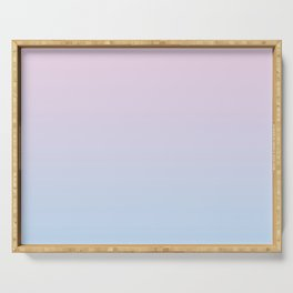 Pastel Ombre Millennial Pink Blue Gradient Pattern Serving Tray