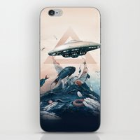 ufo iPhone & iPod Skins featuring UFO by Tanya_tk