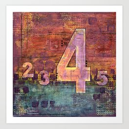 Journey by Number: 4 Art Print