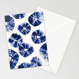 Shibori Kumo dots blue & white Stationery Cards