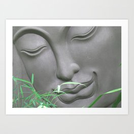 Buddha and Bamboo Art Print