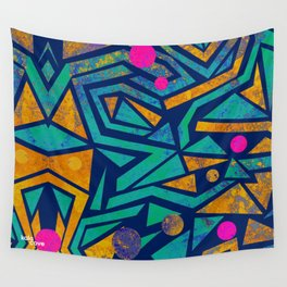 Cerulean Hedgemaze Wall Tapestry