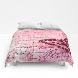 pink postage Comforters