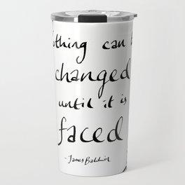 James Baldwin Motivational Quote Travel Mug