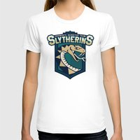 quidditch T-shirts featuring Hogwarts Quidditch Teams - Slytherin by Deadround