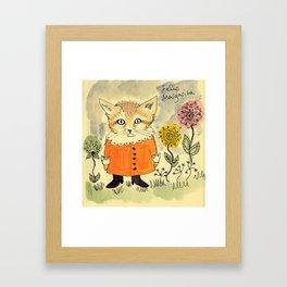 Felis Margarita Framed Art Print