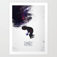 space dandy Art Prints featuring Space Dandy by Pyier