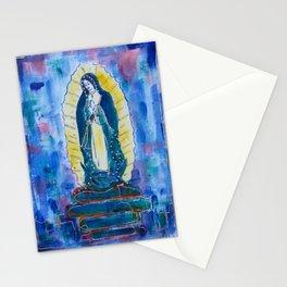 Virgen de guadalupe in blue Stationery Cards