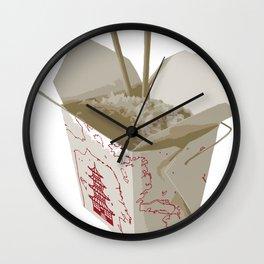 Chinese Food Map Wall Clock