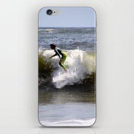 Green Surfer iPhone Skin