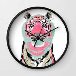 Pink Tiger Wall Clock