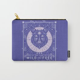 Wild & Free Wolf – Periwinkle Carry-All Pouch