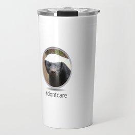 OS XI Honey Badger #dontcare Travel Mug