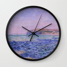 """Claude Monet """"Shadows on the Sea. The Cliffs at Pourville"""" Wall Clock"""