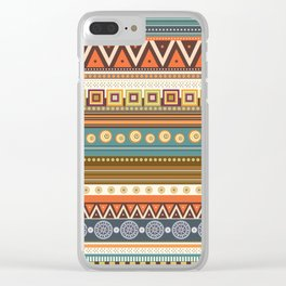 Aztec Pattern - Tribal Pattern Clear iPhone Case