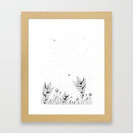 Tribal Flowers Art Illustration Framed Art Print