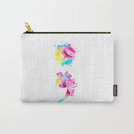 Watercolour Semi-Colon Carry-All Pouch