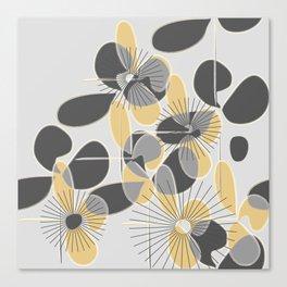 Retro Petals Canvas Print