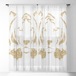 Golden Tiger Prince Sheer Curtain
