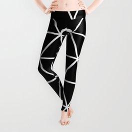 Black Isometric Grid Pattern Leggings