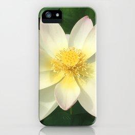 Lotus White iPhone Case