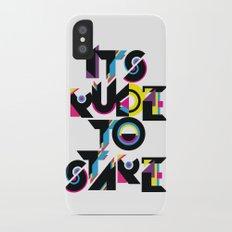 It's Rude To Stare iPhone X Slim Case