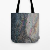 holographic Tote Bags featuring sidewalk rainbow by Sarah Brust