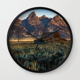 Wyoming - Moulton Barn and Grand Tetons Wall Clock