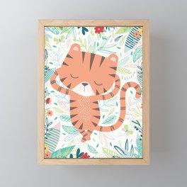 Sleeping Tiger Framed Mini Art Print