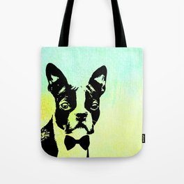 Boston Terrier in a Bow Tie Tote Bag