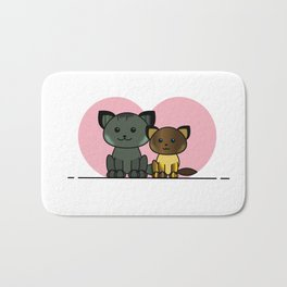 Meet My Cats - Illustration Bath Mat