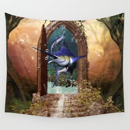 Awesome marlin Wall Tapestry