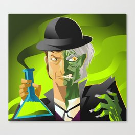 doctor jekyll and mister hyde monster tranformation with green potion Canvas Print