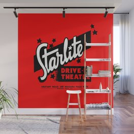 Starlite Drive In Red Wall Mural