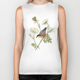 Nuthatch and Carrot Biker Tank