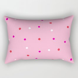 confetti dots: pink red & white Rectangular Pillow