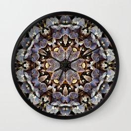 Mushroom Mandala 2 Wall Clock
