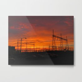 Electricial Sunset Metal Print