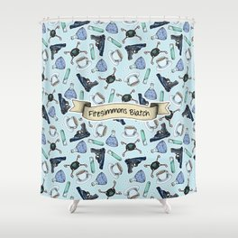 FitzSimmons Biatch Pattern Shower Curtain