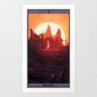 Fantasy Ruins Art Print