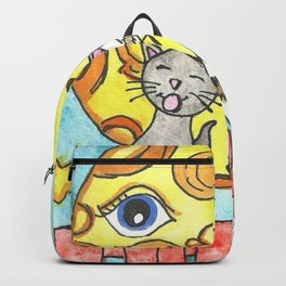 Singing Cats on the Fence Backpack