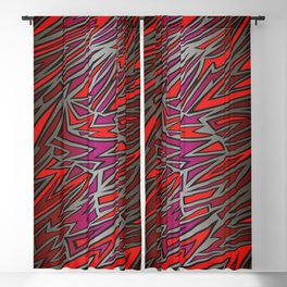 Abstract background in graffiti style Blackout Curtain