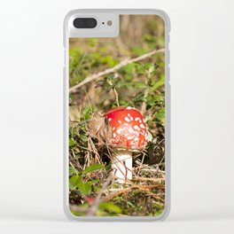fly agaric Clear iPhone Case
