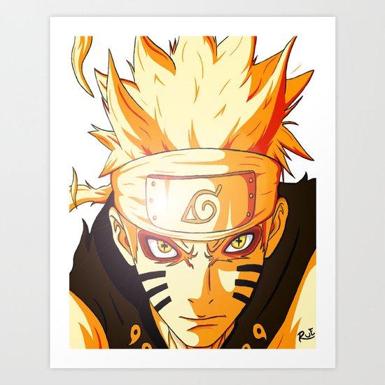 Naruto: Sage Beast Mode Art Print
