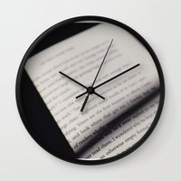 letters Wall Clocks featuring Letters by Sarah L. Hurd
