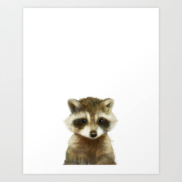 Little Raccoon Kunstdrucke