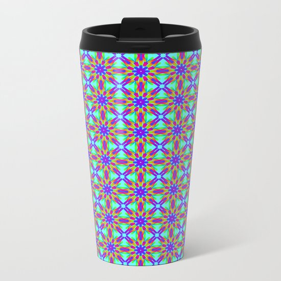 Tribal patterns in rainbow colors Metal Travel Mug