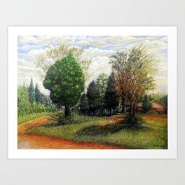 Shaded Pines Art Print